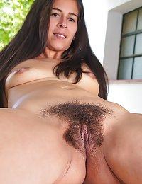 Solange hairy milf big cock
